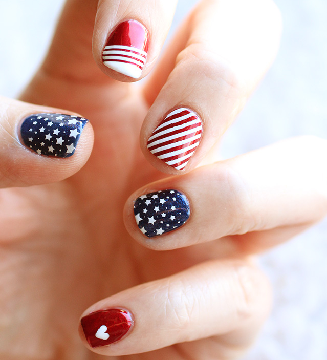 Super cool fourth of july nail art ideas you can do at home - Cool nail designs you can do at home ...